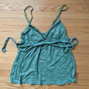 A&F Camisole Green Tank Top